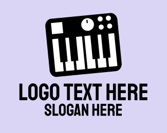 Music - Music Synthesizer logo design