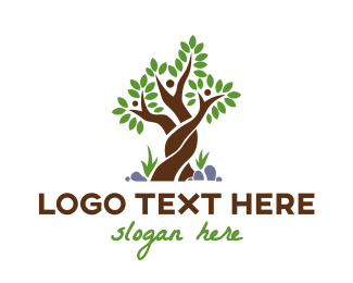 Support - Woven Tree Family logo design