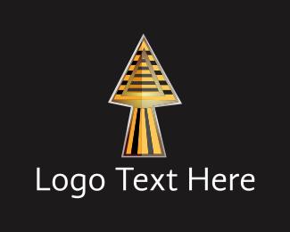 Sphinx - Egyptian Spear logo design