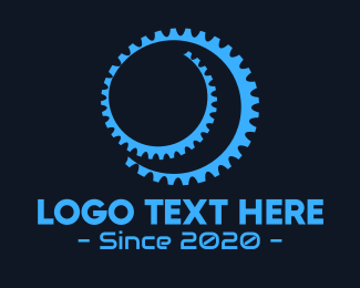 Wheel - Black Gear Spiral logo design
