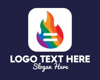 Flaming - Colorful Flaming App logo design