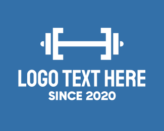 Fitness App - Fitness Gym Barbell logo design