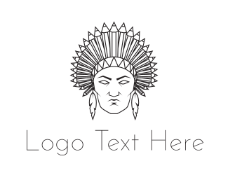 Chief - Native American logo design