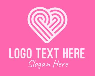 Texture - Pink Heart Pattern logo design