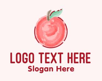 Watercolor - Cute Watercolor Apple logo design