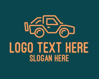 Road Trip - Modern Style Jeep SUV logo design