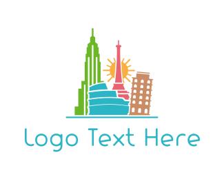 Rome - Tourist Places logo design