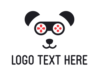 Joystick - Gaming Panda logo design