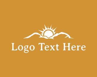 Tan - Mountain Sunrise logo design