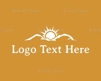 Mountain - Mountain Sunrise logo design