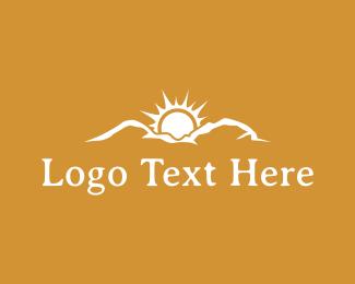 Sunrise - Mountain Sunrise logo design