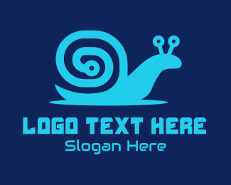 Slow - Snail Circuit logo design