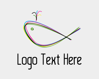 Rgb - Colorful Whale logo design