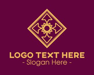 Tile - Gold  Floral Tile logo design