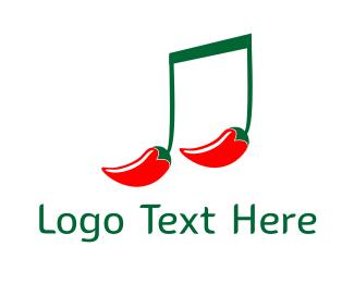 Music - Hot Music logo design