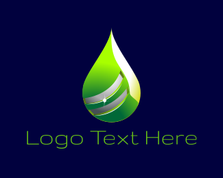 Toxic - Green Drop logo design