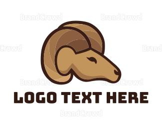 Sheep - Ram Face logo design