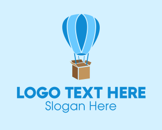 Crate - Hot Air Balloon Package logo design