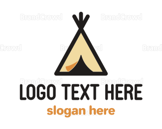 Outdoor - Camping Tepee logo design