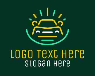 Sedan - Neon Automobile Car logo design