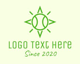 Sport - Green Tennis Ball Star logo design