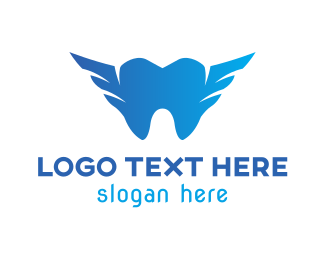 Blue Tooth - Blue Tooth Wing logo design