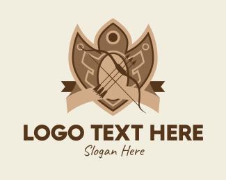 Medieval - Medieval Archery Emblem  logo design