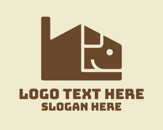 Dog Head - Brown Puppy House  logo design