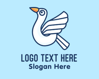 Seagull - Flying White Seagull logo design