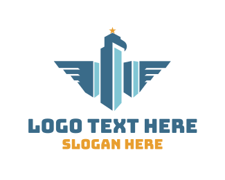 Skyline - Eagle City logo design