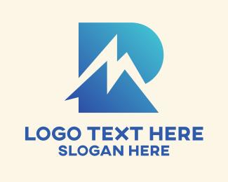 Mr - Blue Letter R & M Monogram  logo design