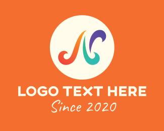 Lettering - Festive Letter N logo design