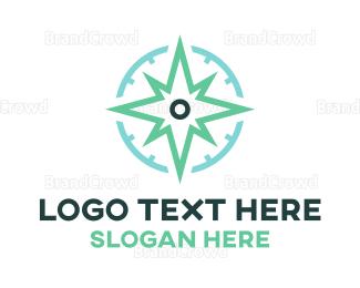 Satellite - Star Compass logo design