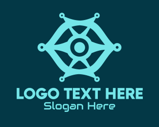 Technical - Modern Blue Eye logo design