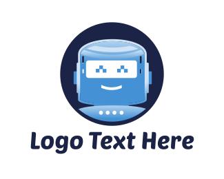 Android - Happy Robot logo design