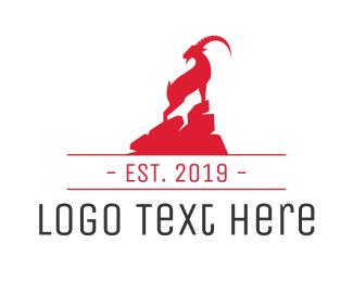 Trekking - Ibex Mountain logo design