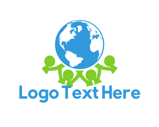 Earth - Global Community logo design