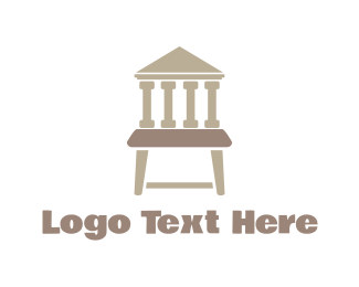 Stool - Justice Chair logo design