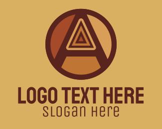 70s - Retro Vintage Letter A logo design