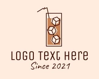 Ice - Iced Coffee Tea logo design