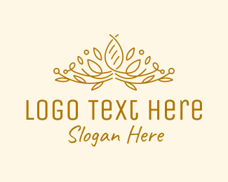 Luxurious - Gold Natural Luxury logo design