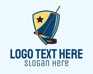 Shield - Star Hockey Team  logo design