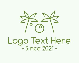 Photography - Tropical Minimalist Photography logo design