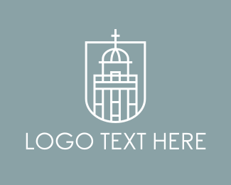 White - White Church  logo design