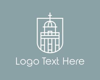 Temple - White Church  logo design