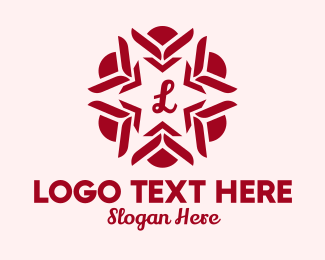 Event Styling - Red Flower Lettermark  logo design