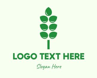 Crops - Green Agricultural Crops logo design
