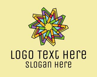 Color Wheel - Colorful Flower Pattern  logo design