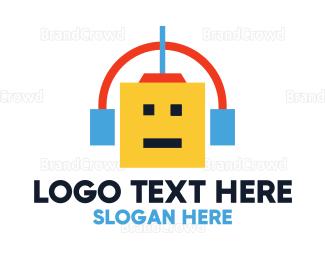 Electronics Boutique - Geometric Robot Media logo design