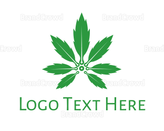 Cbd - Cannabis Plant logo design
